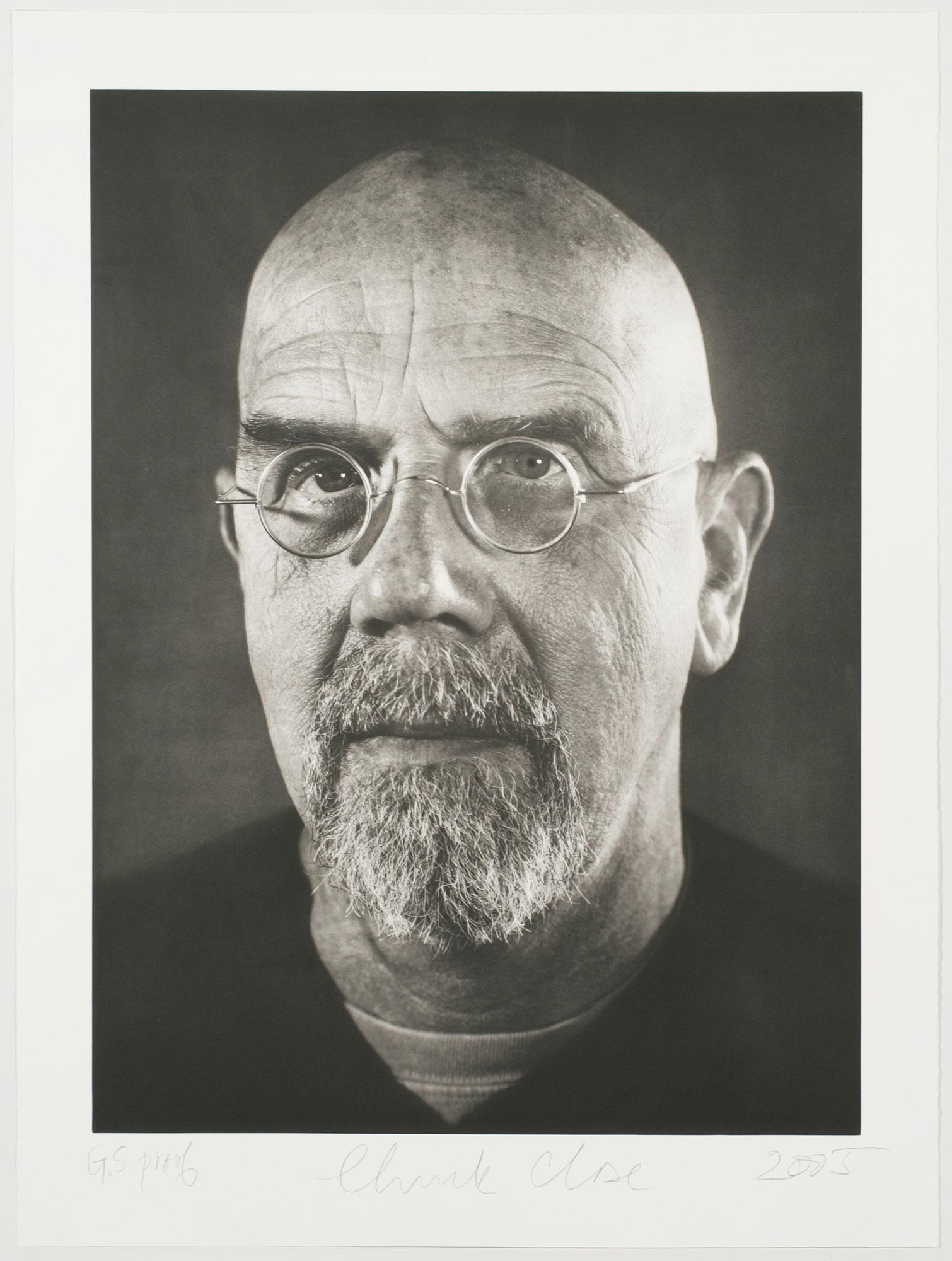 Self-portrait/photogravure by Chuck Close
