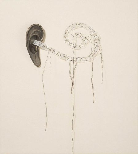 Ear Poem by Lesley Dill at Graphicstudio