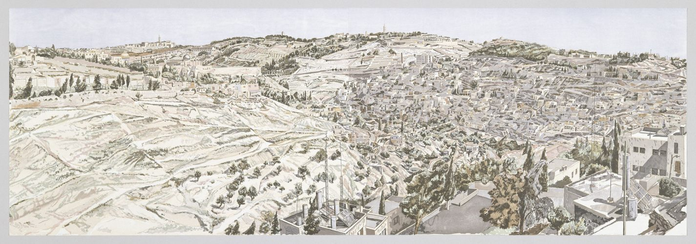 Jerusalem, Kidron Valley by Philip Pearlstein at Graphicstudio
