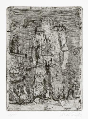 Untitled (hero) by Georg Baselitz
