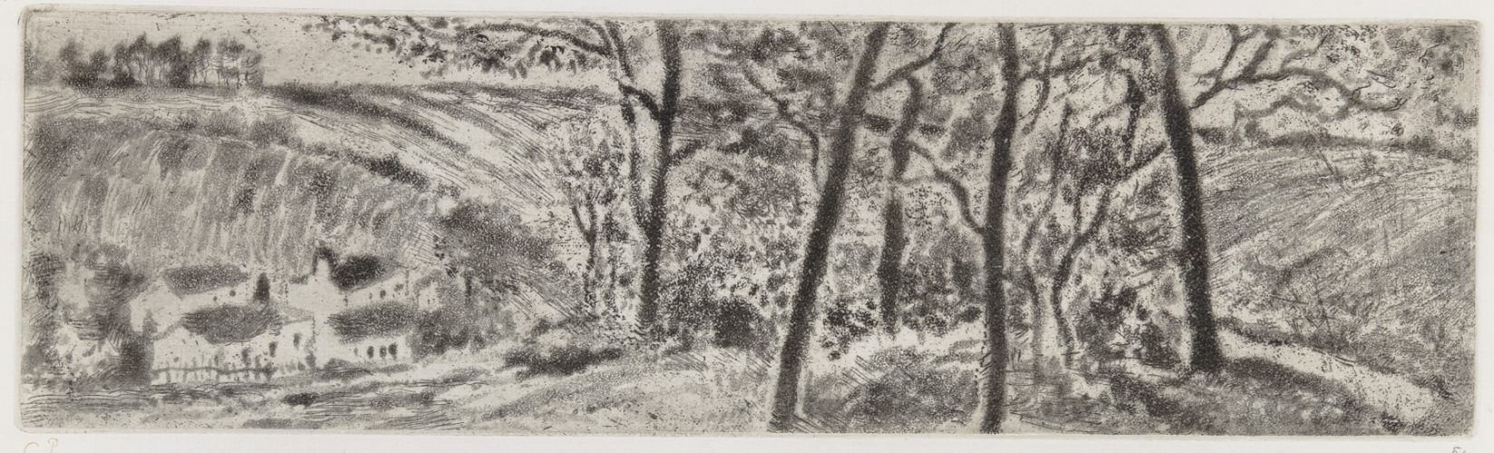 Paysage En Long (landscape Panorama) by Camille Pissarro at