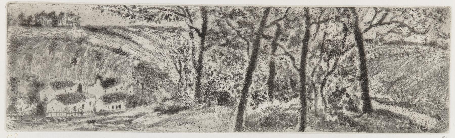 Paysage En Long (landscape Panorama) by Camille Pissarro