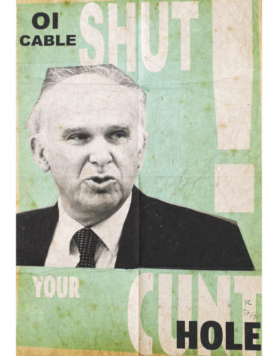 Vince Cable Royal Mail Sell-off by Billy Childish