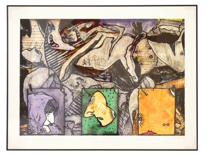 Untitled 1988 by Jasper Johns at Robert Fontaine Gallery