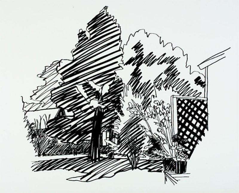 Jeanie's Backyard by Tom Wesselmann