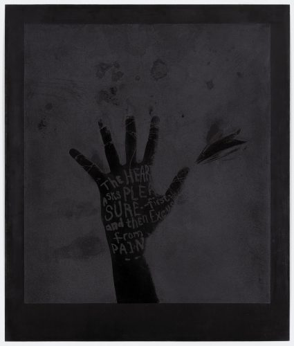 Black Flower Hand by Lesley Dill at