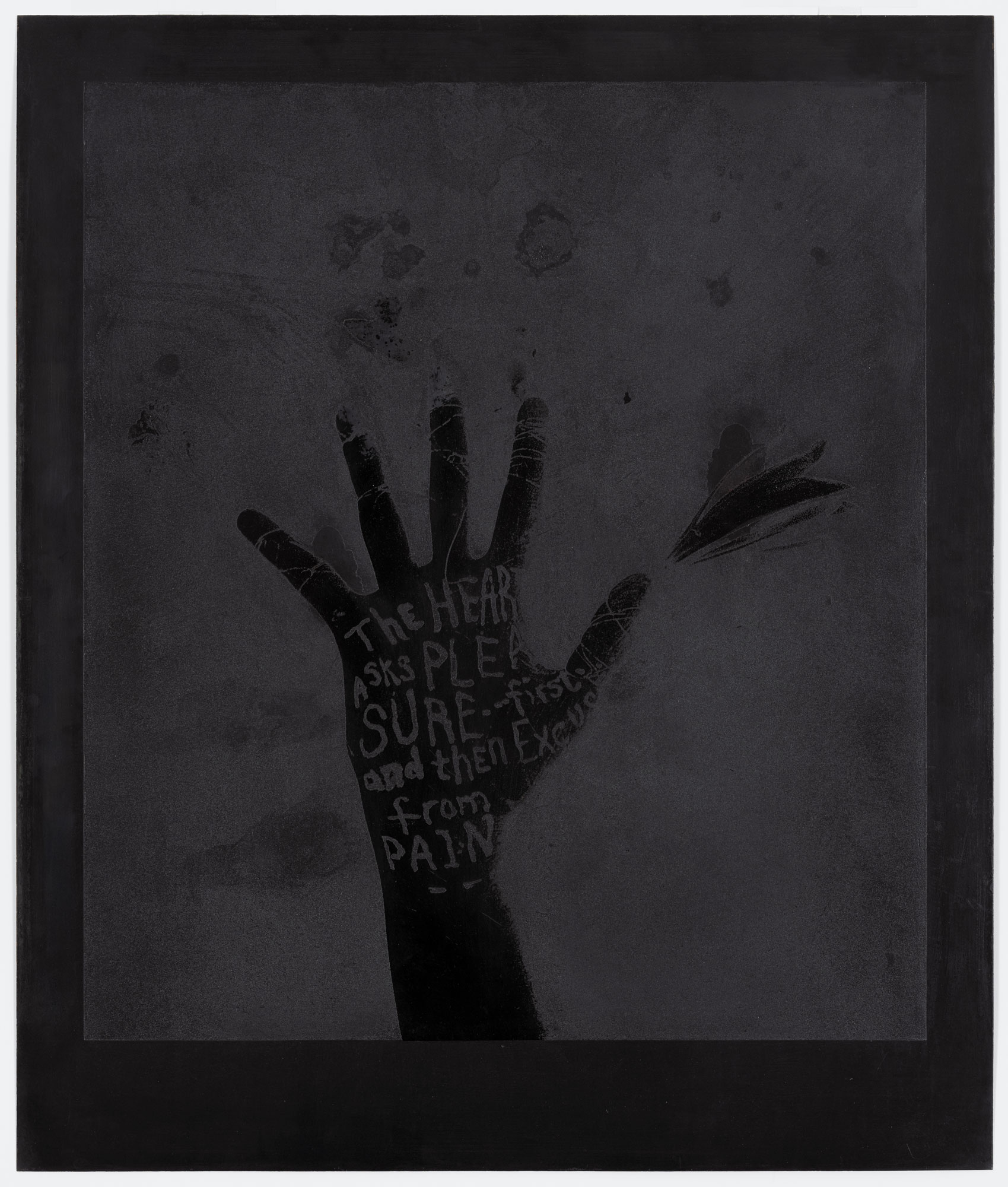 Black Flower Hand by Lesley Dill