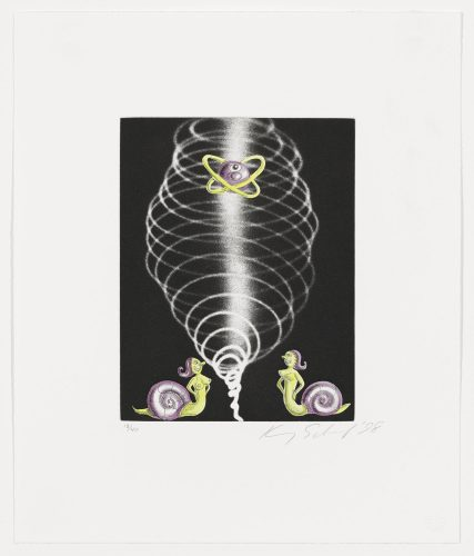 Snail Nymphs by Kenny Scharf at