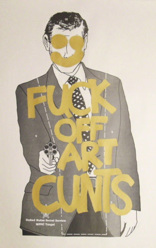 Fuck Off Art Cunts (Gold) by Simon Thompson
