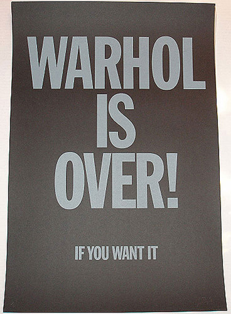 Warhol Is Over (Black) by Simon Thompson