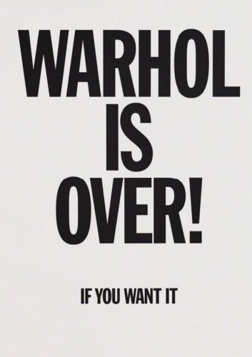 Warhol Is Over (White) by Simon Thompson