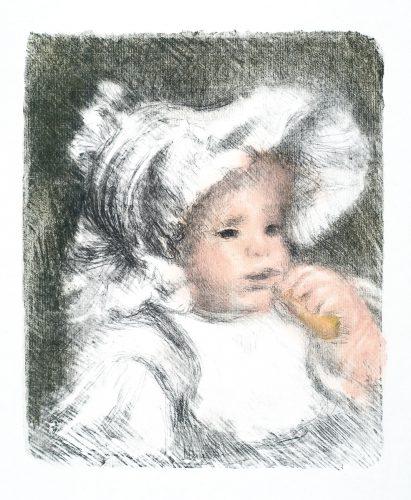 L'enfant Au Biscuit (jean Renoir) by Pierre Auguste Renoir at