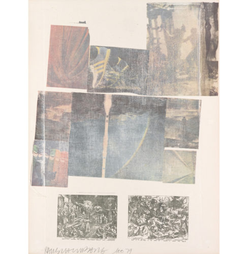 People Have Enough Trouble Without Being Intimidated By An Artichoke by Robert Rauschenberg at Robert Rauschenberg