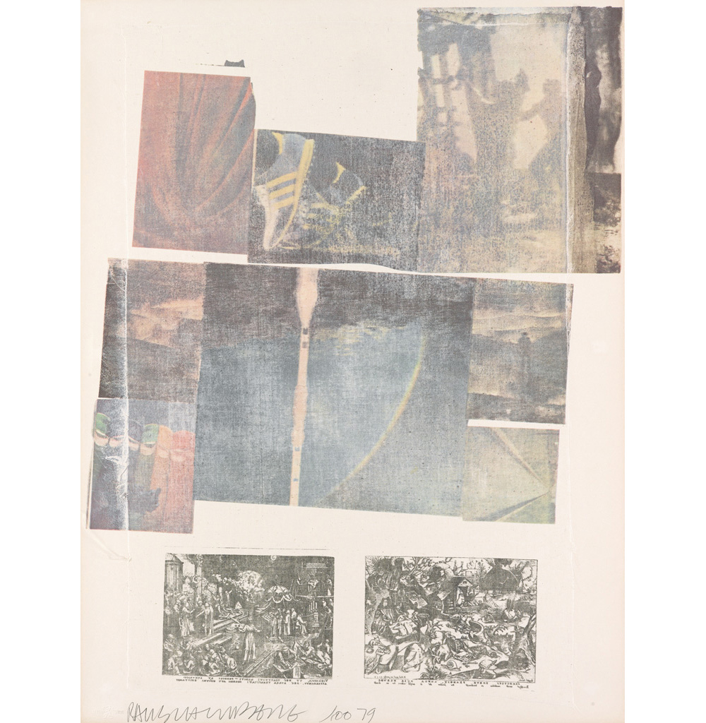 People Have Enough Trouble Without Being Intimidated By An Artichoke by Robert Rauschenberg