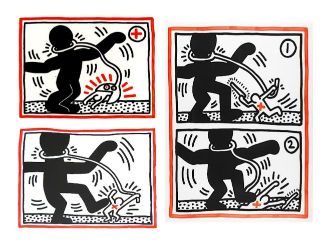 Free South Africa, Set Of 3 by Keith Haring