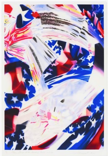 Stars And Stripes At The Speed Of Light by James Rosenquist