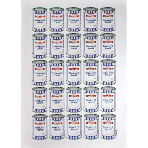 Soup Cans by Banksy at