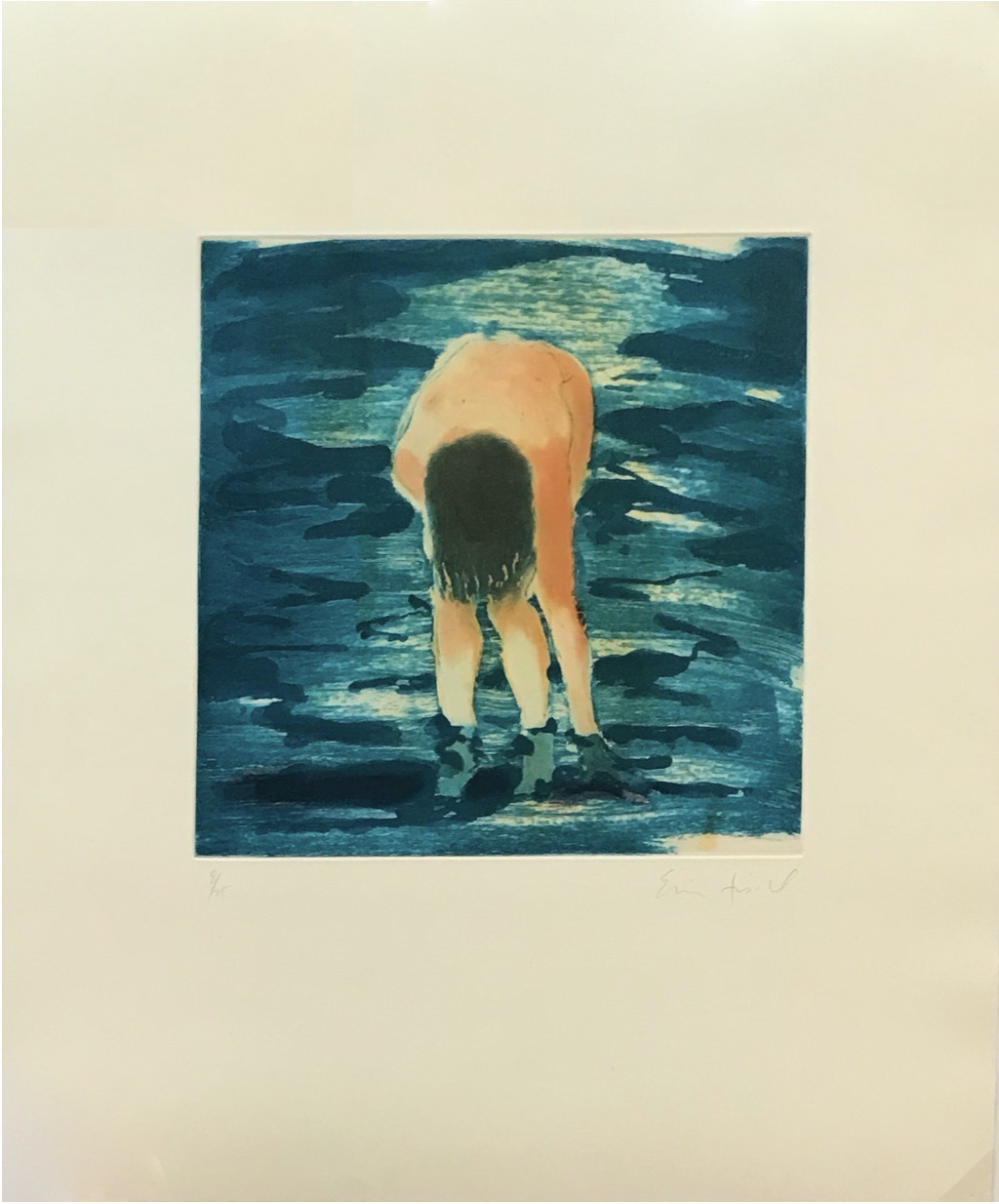 Untitled (Boy in blue water) by Eric Fischl