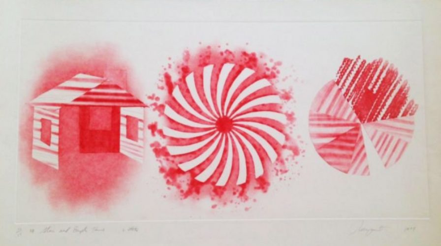 Star And Empty House: 2 State by James Rosenquist