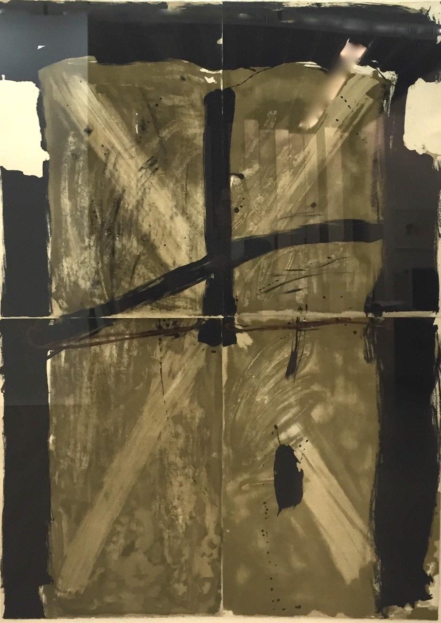 Trois Gris Et Marron by Antoni Tapies