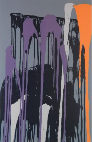 Untitled (Purple) by Larry Poons at