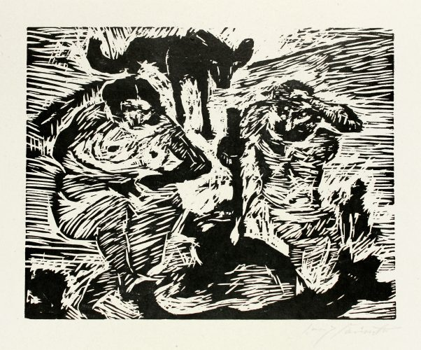 Im Schweiße Deines Angesichtes (adam And Eve) by Lovis Corinth at