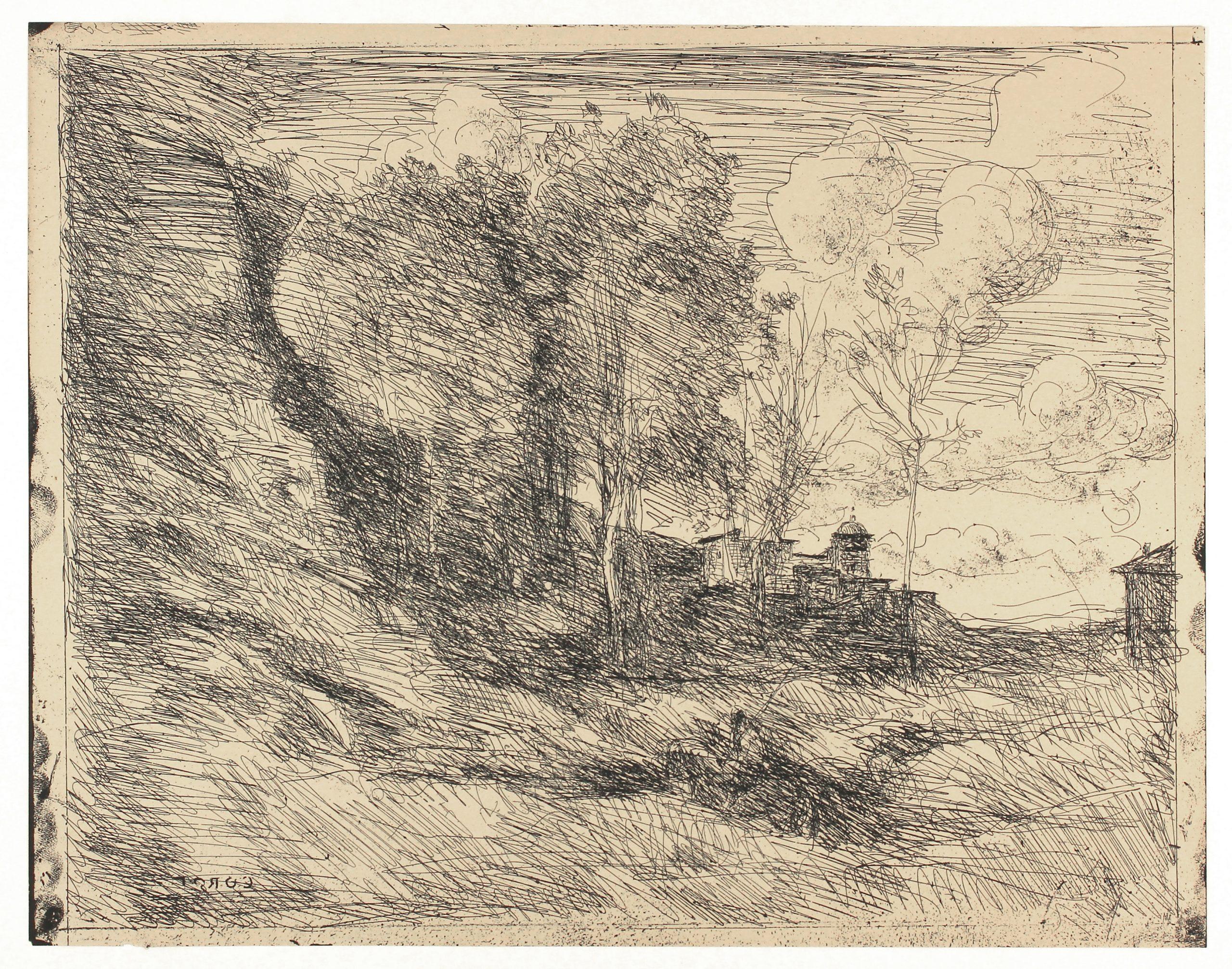 Souvenir D'ostie by Jean-Baptiste-Camille Corot