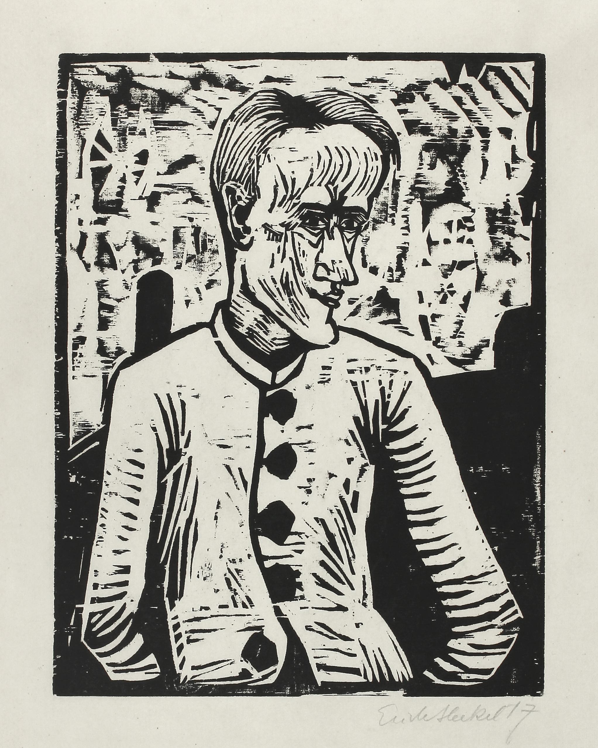 Der Narr (the Fool) by Erich Heckel