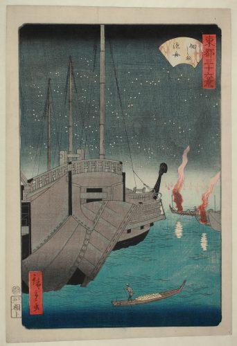Tsukudajima Gyoshû (fishing Boats At Tsukudajima) by Utagawa Hiroshige II at Galerie Hochdruck