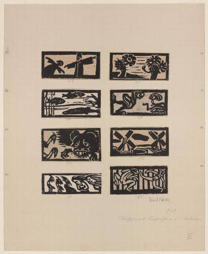 Acht Vignetten (8 Vignettes) by Emil Nolde at Galerie Hochdruck