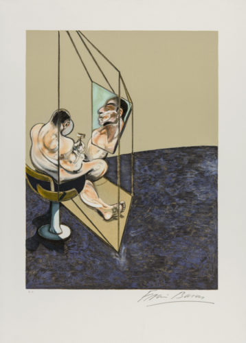 Three Studies Of The Male Back by Francis Bacon