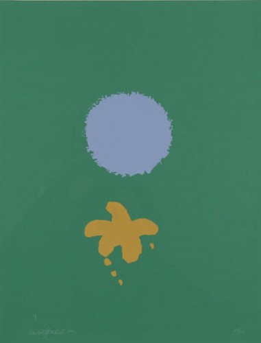 Green Ground Blue Disc by Adolph Gottlieb at Adolph Gottlieb