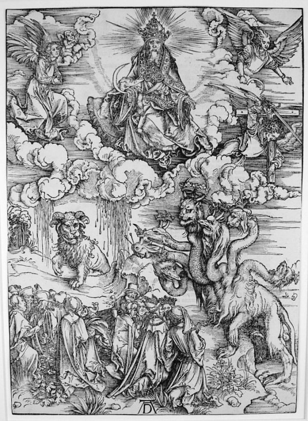 Beast With Two Horns Like A Lamb by Albrecht Durer