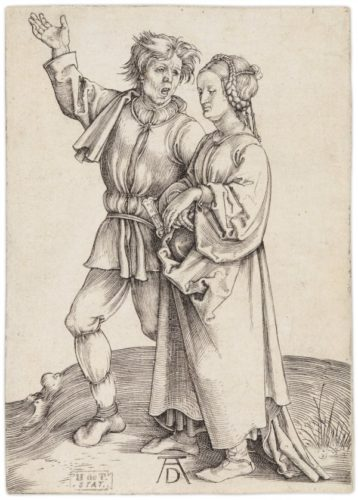Rustic Couple (a Peasant And His Wife) by Albrecht Durer at