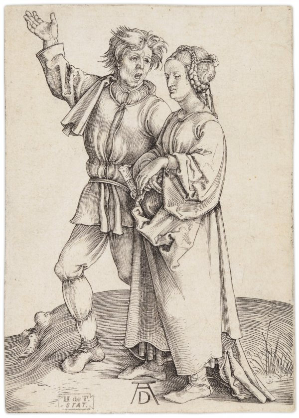 Rustic Couple (a Peasant And His Wife) by Albrecht Durer