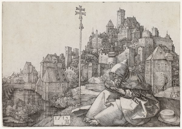 Saint Anthony Reading by Albrecht Durer at