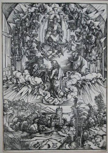 Saint John Before God And The Elders by Albrecht Durer