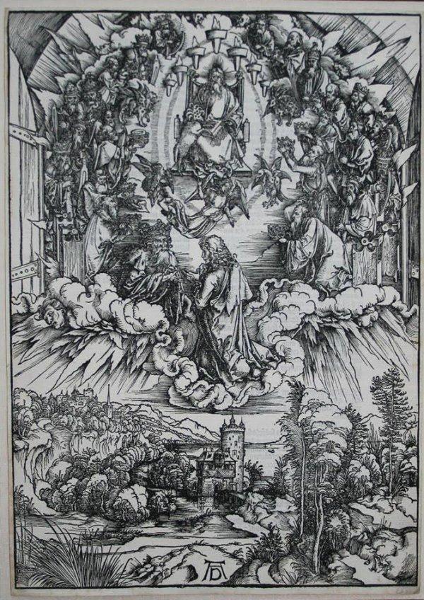 Saint John Before God And The Elders by Albrecht Durer
