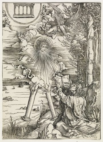 Saint John Devouring The Book by Albrecht Durer at