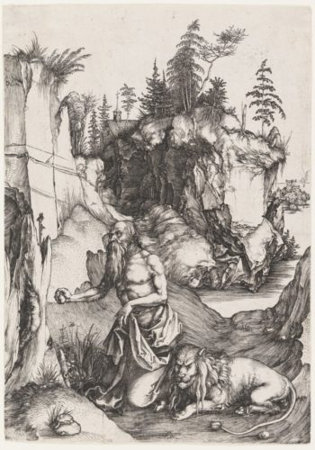 St. Jerome Penitent In The Wilderness by Albrecht Durer at Albrecht Durer