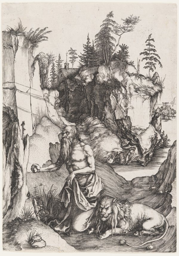 St. Jerome Penitent In The Wilderness by Albrecht Durer