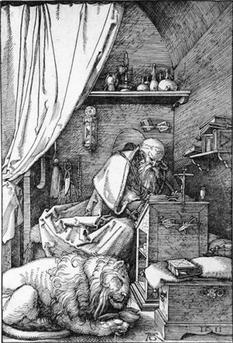 St. Jerome In His Cell by Albrecht Durer at