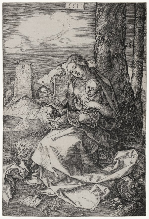 Virgin And Child With The Pear by Albrecht Durer
