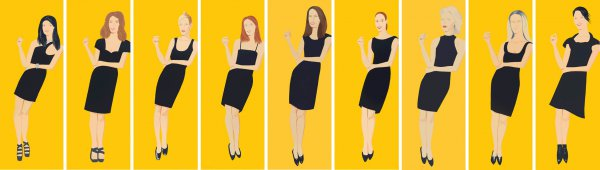 Black Dress (suite Of 9) by Alex Katz