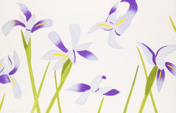 Blue Irises by Alex Katz