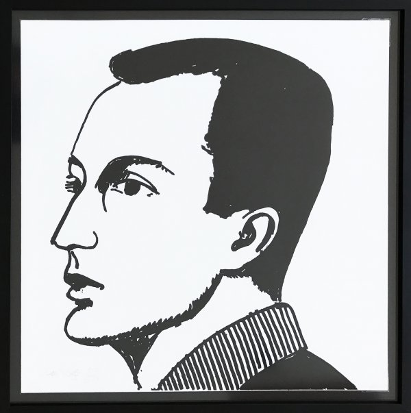 Frank O'hara by Alex Katz