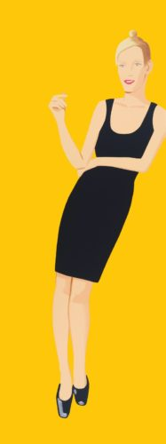 Oona (from Black Dress Series) by Alex Katz