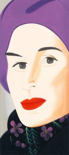 Purple Hat by Alex Katz