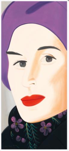 Purple Hat Ada by Alex Katz