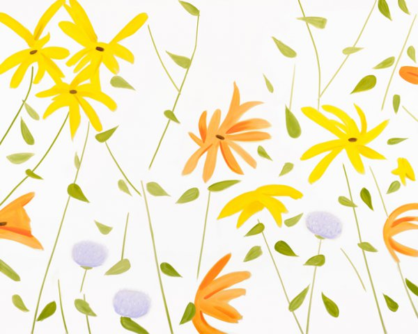 Summer Flowers 2 by Alex Katz